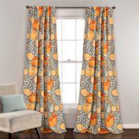 Poppy Garden 84-Inch Room Darkening Rod Pocket/Back Tap Window Curtain Panel Pair