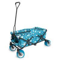 Creative Outdoor™ All Terrain Folding Wagon in Blue/White