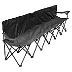 Creative Outdoor 6-Person Folding Chair in Black