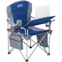 Creative Outdoor™ Folding iChair with Wine Holder in Grey/Blue