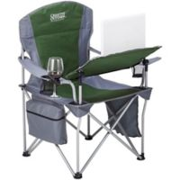 Creative Outdoor™ Folding iChair with Wine Holder in Grey/Green