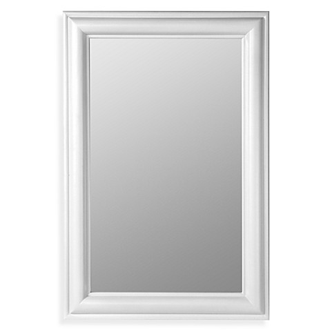 white frame bathroom mirror cooper classics mirror white bed bath amp beyond 21529