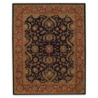 Capel Rugs Monticello Palmette Hand-Tufted 5' x 8' Accent Rug in Onyx/Rust