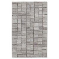 Dynamic Rugs Posh Grid 6'7 x 9'6 Area Rug in Grey