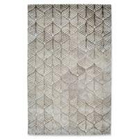 Dynamic Rugs Posh Echer 6'7 x 9'6 Area Rug in Ivory/Grey