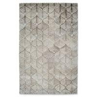 Dynamic Rugs Posh Echer 8' x 11' Area Rug in Ivory/Grey