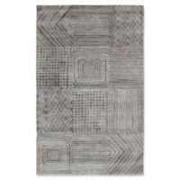 Dynamic Rugs Posh Portals 6'7 x 9'6 Area Rug in Dark Grey