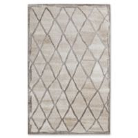 Dynamic Rugs Posh Diamonds 4' x 6' Area Rug in Ivory/Grey