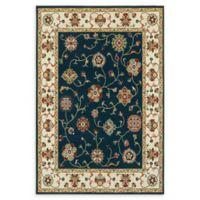 Oriental Weavers Kashan 2'3 x 7'6 Runner in Navy/Ivory