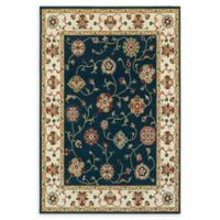 Oriental Weavers Kashan 6'7 x 9'6 Area Rug in Navy/Ivory