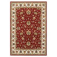 Oriental Weavers Kashan 2'3 x 7'6 Runner in Red/Ivory