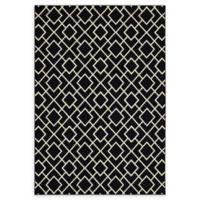 Oriental Weavers Luna Diamond Geometric 2'3 x 7'6 Runner in Black