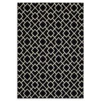 Oriental Weavers Luna Diamond Geometric 9'10 x 12'10 Area Rug in Black