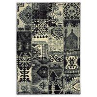 Oriental Weavers Luna Abstract Aztec 9'10 x 12'10 Area Rug in Black