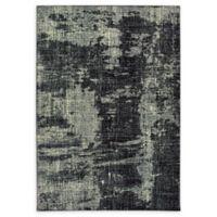 Oriental Weavers Luna Abstract 9'10 x 12'10 Area Rug in Black