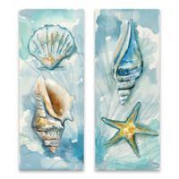 Watercolor Shells Printed Canvas Art (Set of 2)