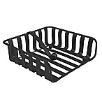 Spectrum™ Stripe Metal Weighted Napkin Holder in Black