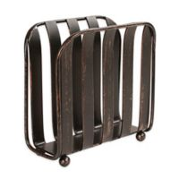 Spectrum Stripe Metal Vertical Napkin Holder in Oil Rubbed Bronze