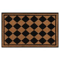 Erin Gates Park Checkered Coir Door Mat in Black
