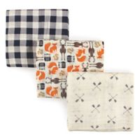 Hudson Baby® 3-Pack Forest Muslin Swaddle Blankets