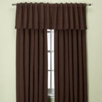 Union Square 144-Inch Rod Pocket/Back Tab Window Curtain Panel in Chocolate