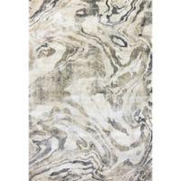 Dynamic Rugs Bali Ubud 5'3 x 7'7 Area Rug in White/Marble