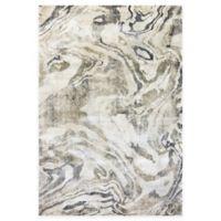 Dynamic Rugs Bali Ubud 7'10 x 10'10 Area Rug in White/Marble