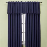 Union Square 132-Inch Rod Pocket/Back Tab Window Curtain Panel in Indigo