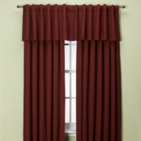 Union Square 132-Inch Rod Pocket/Back Tab Window Curtain Panel in Red