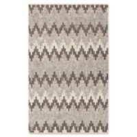 Surya Nico Chevron 2' x 3' Accent Rug in Grey/White
