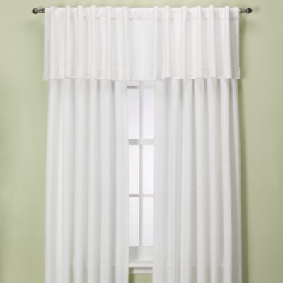 Union Square 54 Inch Rod Pocket/Back Tab Window Curtain Panel In White