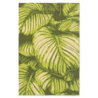 Surya Rain Floral 2' x 3' Accent Rug in Lime