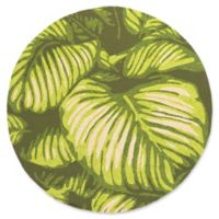 Surya Rain Floral 8' Round Area Rug in Lime