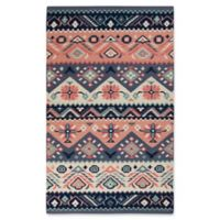 Surya Jewel Tone Southwest 5' x 8' Area Rug in Navy/Butter