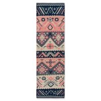 Surya Jewel Tone Southwest 8' Runner in Navy/Butter