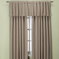 Union Square 84-Inch Rod Pocket/Back Tab Window Curtain Panel in Khaki