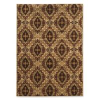 Linon Home Décor Ellegance Emily 5' x 7'3 Area Rug in Beige