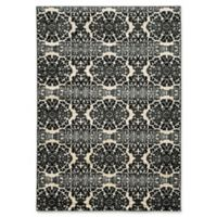Linon Home Décor Elegance 5' x 7'3 Snowflakes Accent Rug in Grey