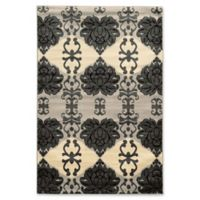 Linon Home Décor Elegance Cybil 2' x 3' Accent Rug in Grey