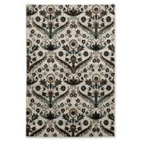 Linon Home Décor Elegance Chateau 5' x 7'3 Area Rug in White/Blue