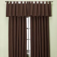 Union Square 132-Inch Tab Top Window Curtain Panel in Chocolate