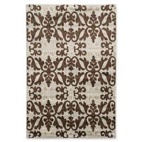 Linon Home Décor Elegance 2' x 3' Florence Accent Rug in Ivory
