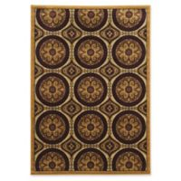 Linon Home Ellegance Clara 5' x 7'3 Area Rug in Brown/Beige