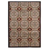 Linon Home Ellegance Clara 5' x 7'3 Area Rug in Beige/Brown
