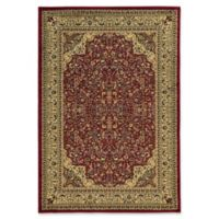 Linon Home Ellegance Isphahan 2' x 3' Accent Rug in Red