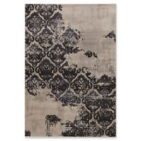 Linon Home Decor Jewel Vintage BlueClara 5' x 7'6 Area Rug in Beige