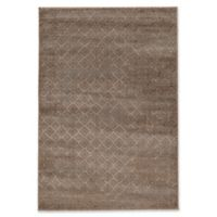 Linon Home Decor Jewel Vintage Diamonds 5' x 7'6 Area Rug in Beige