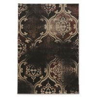 Linon Home Decor Jewel Vintage K. Arthur RT 5' x 7'6 Area Rug in Black