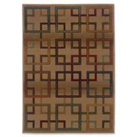 Oriental Weavers Genesis Geometric Trellis 5'3 x 7'6 Area Rug in Beige
