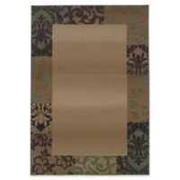 Oriental Weavers Genesis Damask Border 7'10 x 11' Area Rug in Beige